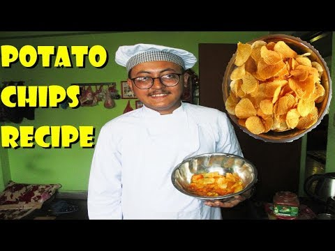 CHEF SAJIN - HOW TO MAKE CRISPY POTATO CHIPS | POTATO CHIPS RECIPE