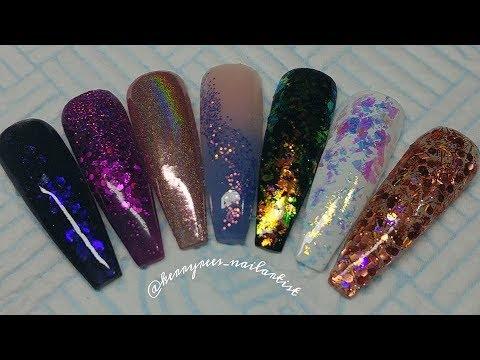 Glitter Planet UK swatches/Acrylic Nails/Nail Art