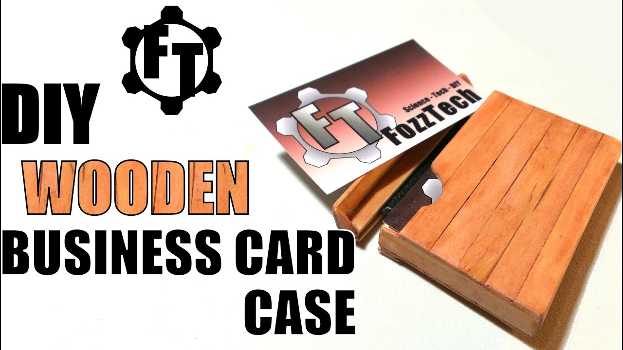 How to Make a Wooden Business Card Case with Household Items ...