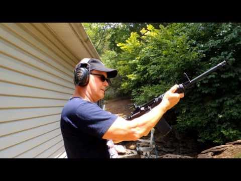 Shooting Ruger AR 556 July 4,2016  John Akers Jr