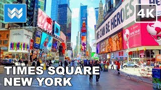 Walking tour of Times Square in Midtown Manhattan, New York City Travel Guide 【4K】 🗽