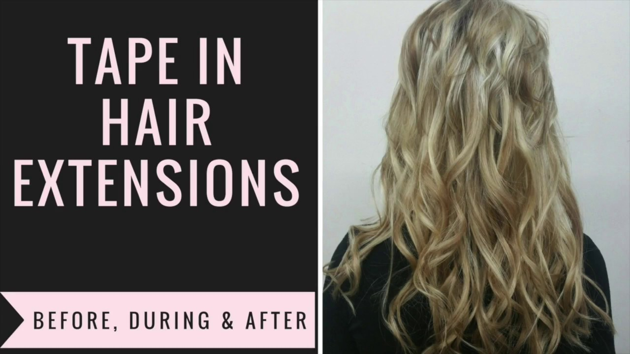 Tape In Hair Extensions For Short Hair Before During And After