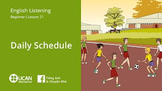 Learn English Via Listening | Beginner - Lesson 21. Daily Schedule