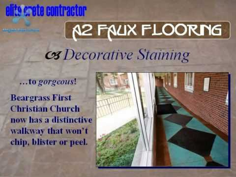 A2 Faux Flooring - Distinctive Concrete Surface Solutions - Ann Arbor