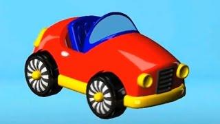 Мультфильм конструктор  про машинку спорткар - спортивный автомобиль