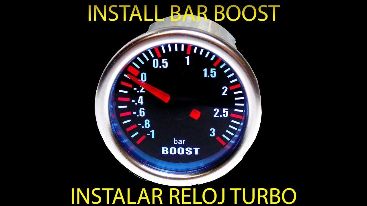 Instalar reloj presión TURBO BAR BOOST