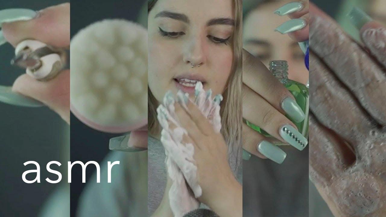 ASMR español - TE HAGO DE TODO (Peluquería, Cejas, Barbería, Limpieza facial, Manicure) +1HR