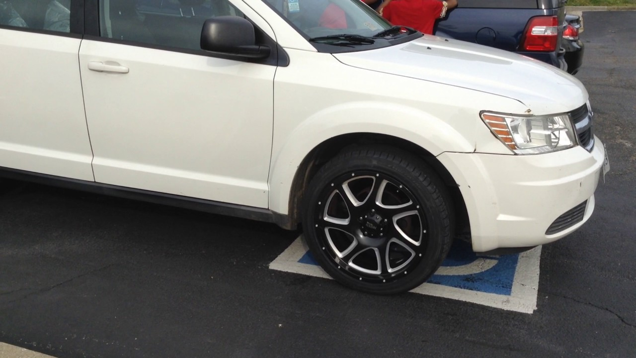 "2010 Dodge Journey sitting on 20"" Moto Metal 976 Black wheels and 245/45-20 Velozza tires. - YouTube"