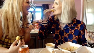TRYING GRILLED CHEESE WAFFLES WITH JEFFREE STAR!