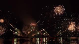4Kウルトラハイビジョン・超高画質な海上花火 宮津燈籠流し花火大会2016