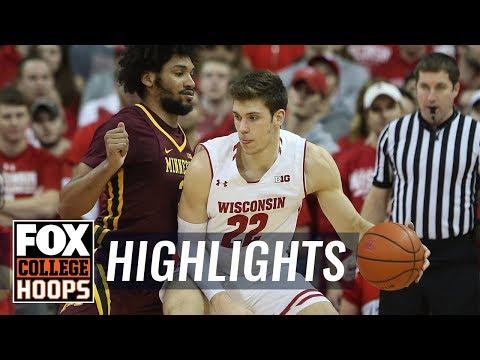 Wisconsin vs Minnesota   HIGHLIGHTS   FOX COLLEGE HOOPS