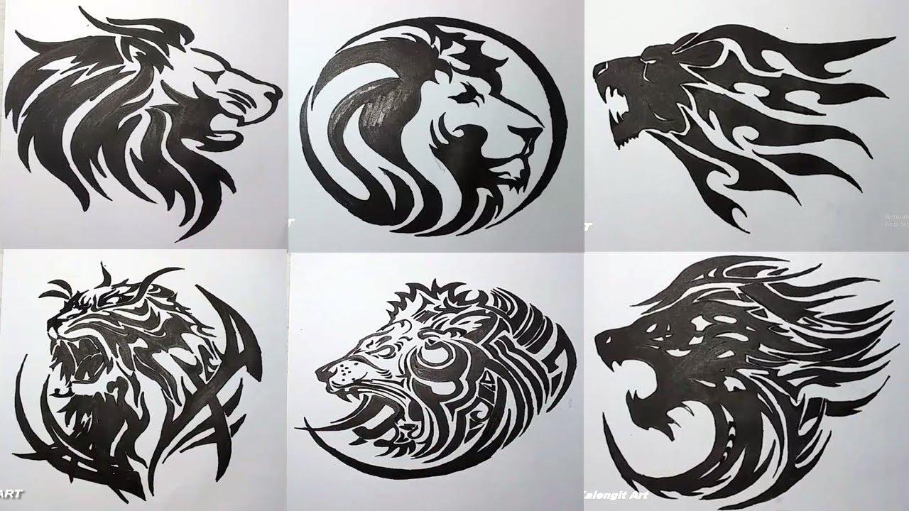 Koleksi Menggambar Tatto Tribal Singa Full Vidio Keren Youtube