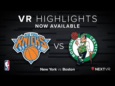 NBA in VR -  Knicks vs Celtics VR Preview | NextVR