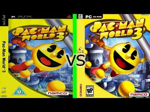 Comparación De Gráficos - Pacman World 3 - Versión De PC Vs PSP