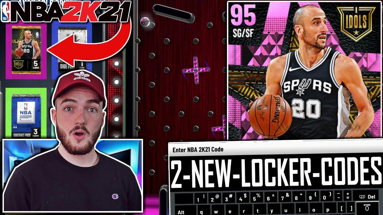 2 FREE NEW LOCKER CODES 2K21 + PINK DIAMOND MANU GINOBILI GAMEPLAY! (NBA 2K21 MyTEAM)