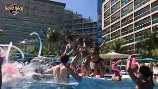 DJ Rhiannon at Hard Rock Hotel Pool Party in Cancun - Spring Break 2014