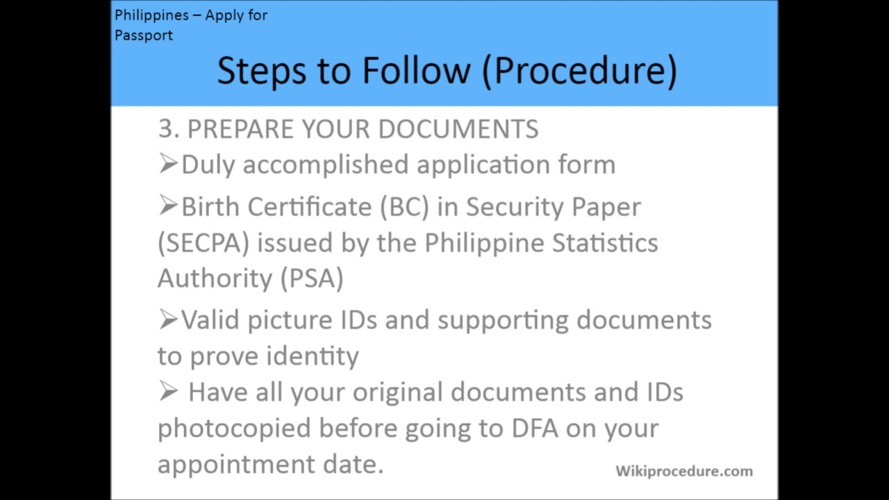 Movie Philippines How To Apply For A Passport