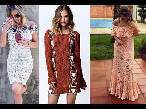 73970062b Vestidos tejido crochet para mujer : Moda 2017- 2018 - YouTube