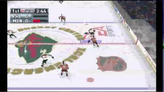 NHL 2001 (PSX) - Vizzed.com GamePlay pt 1 MN Wild Season