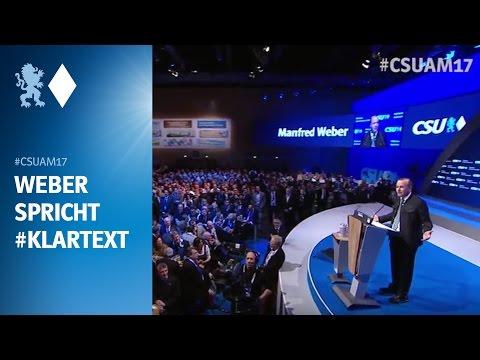 Manfred Weber spricht Klartext