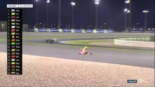 Iannone Crash on Moto GP Qatar 2016