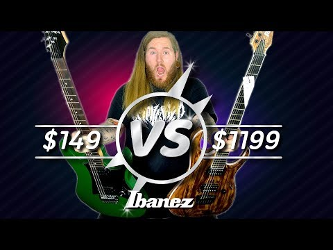 Cheap VS Expensive-Ibanez Guitar $149 VS $1199 GIO Iron Label