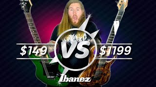 Cheap VS Expensive-Ibanez Guitar $149 VS $1199 GIO Iron Label
