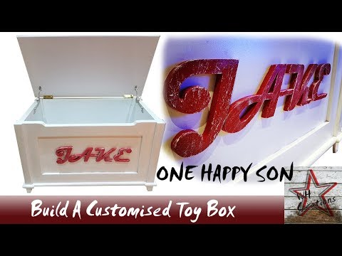 Build A Wooden Personalised Toy Box - Free Woodworking Plans