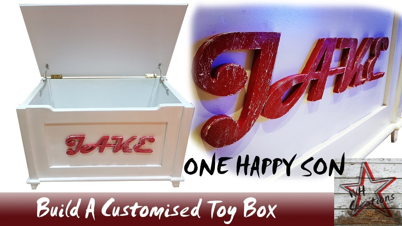 Build A Wooden Personalised Toy Box Free Woodworking Plans Youtube