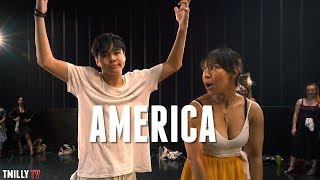 Gambar cover West Side Story - AMERICA - Choreography by Galen Hooks - #TMillyTV #Dance