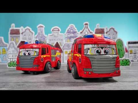 Spielzeug Happy AT und Happy Drehleiter - Rosenbauer & Dickie Toys