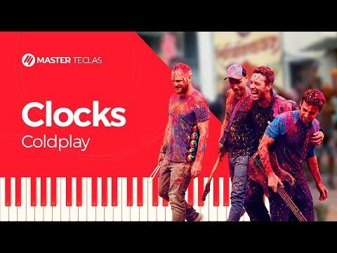 💎 Coldplay - Clocks - Piano tutorial - Master Teclas💎
