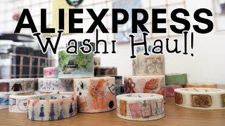 WASHI TAPE HAUL from AliExpress!