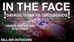 SAVAGE 110BA Vs. GROUNDHOG. WOW!