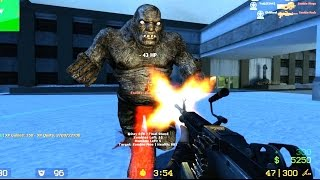Counter Strike Source Zombie Horde mod Zombie Boss fight Online Gameplay on Mental Hospital map
