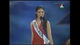Cynthia Olavarría at the Miss Universe 2005 preliminary competition