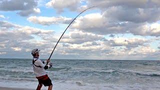 Beach Shark Fishing Struggle, Finally Caught a Break!