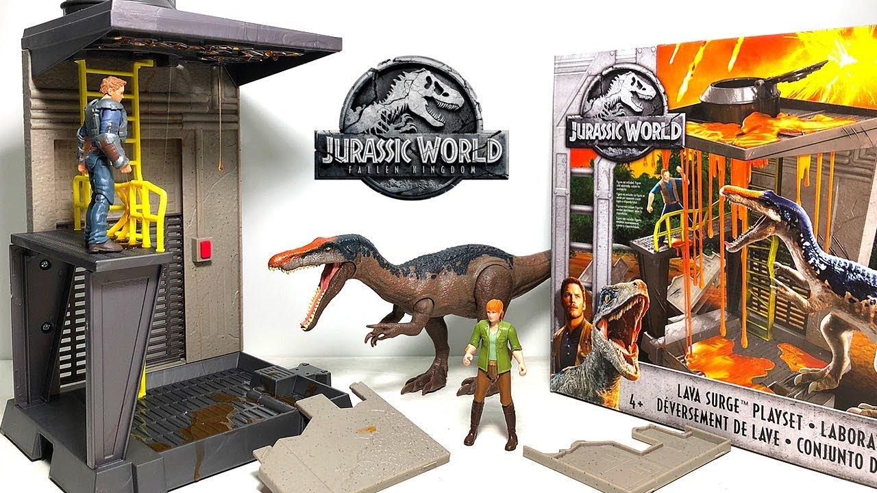 New Baryonyx Slime Lava Surge Playset! Jurassic World Fallen Kingdom Dinosaur Toys ...
