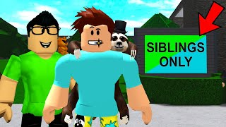 Club Was SIBLINGS ONLY.. They TRAPPED One Of Us! (Roblox Bloxburg)