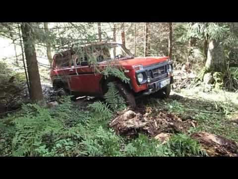 Lada Niva offroad in finnish forest