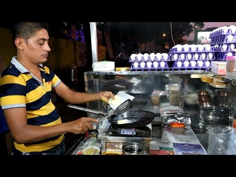 Ahmedabad Street Food: Omelette Center Ahmedabad (India) Video 2
