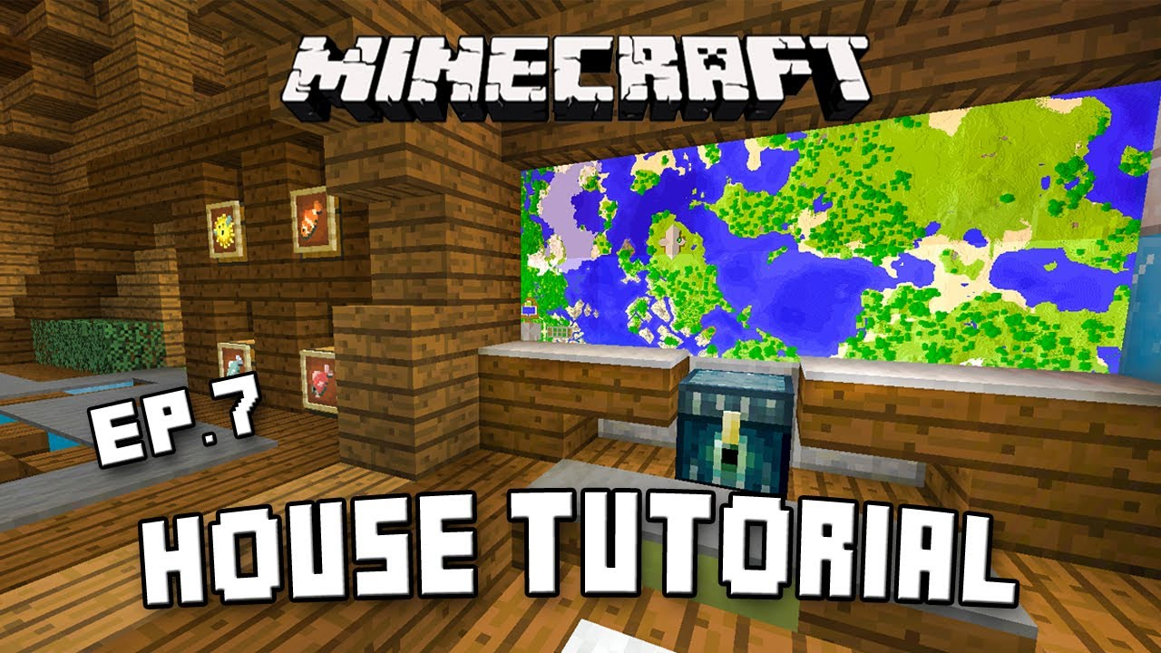 Minecraft House Tutorial: Modern Interior Design Ideas (Scarland Fishing  Cabin Part 7)   YouTube Part 64