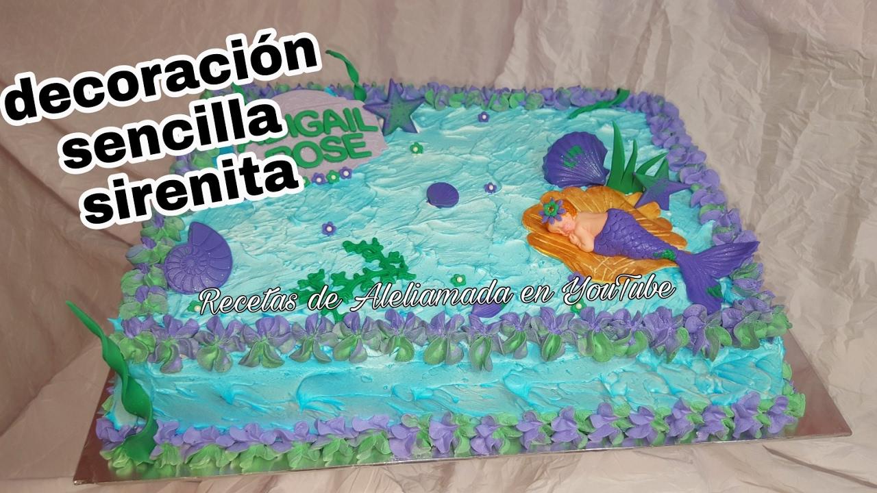 Decoraci n de pastel para baby shower de sirenita youtube - Decoracion para la pared ...