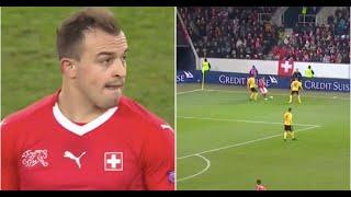 Xherdan Shaqiri produces delightful skill to create Switzerland's fifth goal vs Belgium