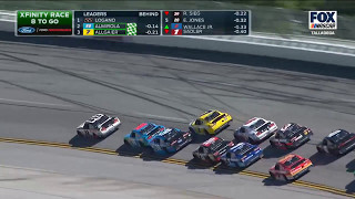 NASCAR Xfinity Series 2017. Talladega Superspeedway. Restart & Battle for Win