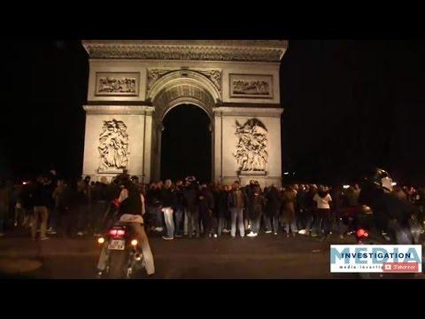 300 POLICIERS rebelles mais courageux manifestent sur les champs Élysées