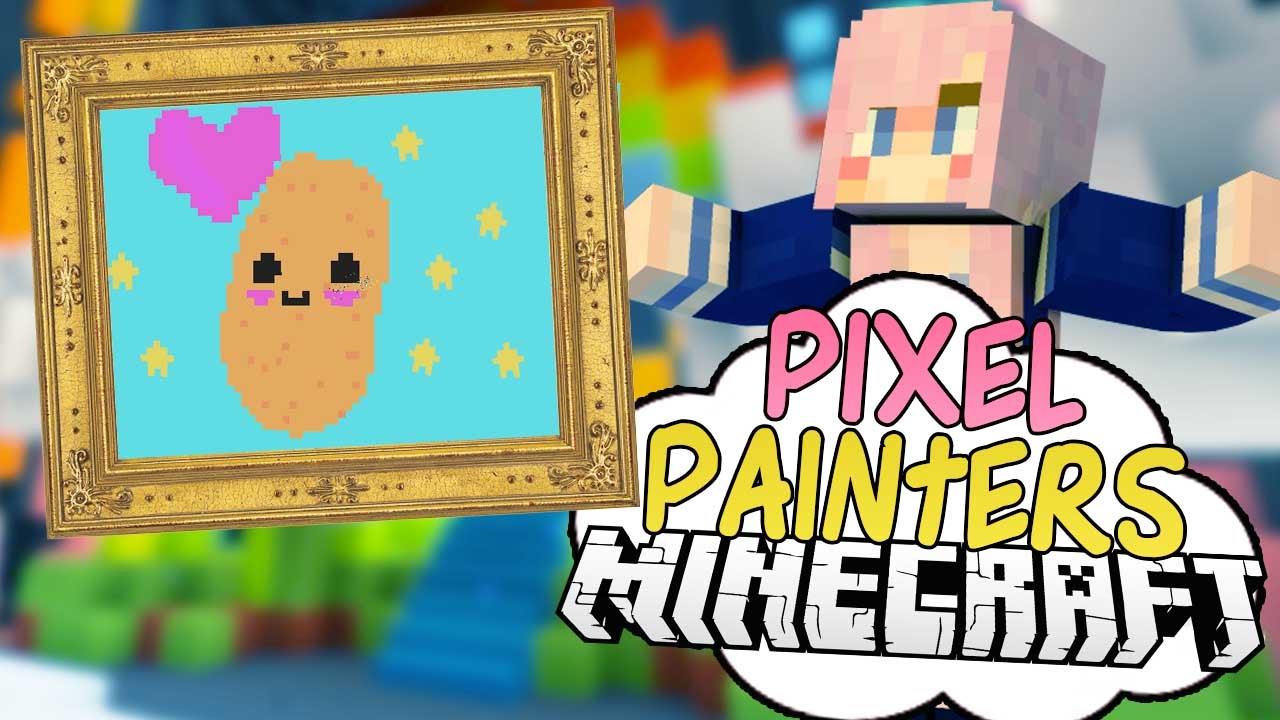Kawaii Nyan Potato Pixel Painters Minecraft Art Minigame