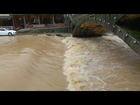 Rain-triggered Floods Damage Roads, Farmlands in Fujian