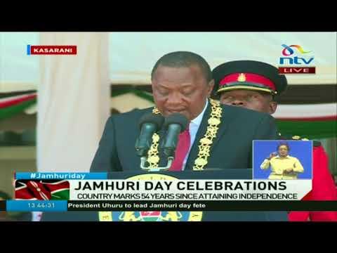President Uhuru Kenyatta speech at the Jamhuri day celebrations