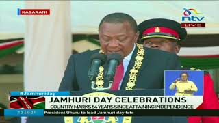 President Uhuru Kenyatta speech at the Jamhuri day celebrations
